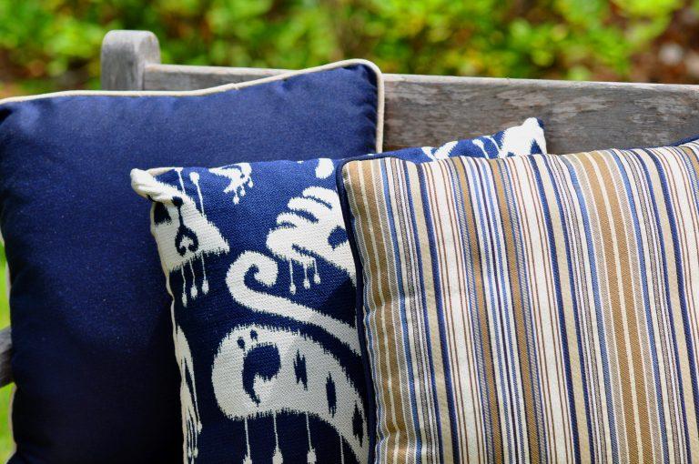 Phifer GeoBella Blues Outdoor Cushion and Pillow Fabric