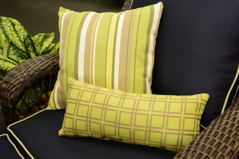 Phifer GeoBella Yellows/Greens Outdoor Cushion and Pillow Fabric